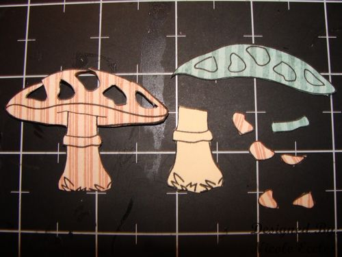 Step 1 cut pieces of mushroom