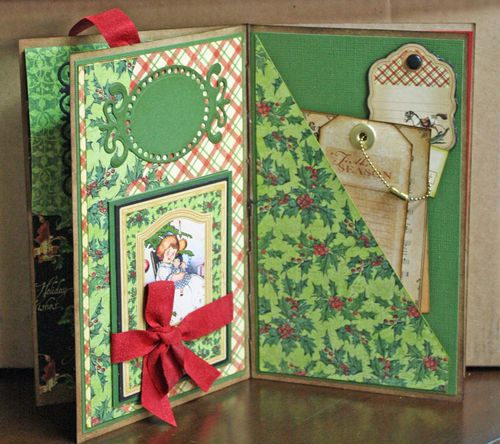 CHA-S Altered Art Box Christmas 10