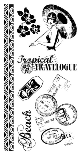 Tropical Travelogue Cling 1