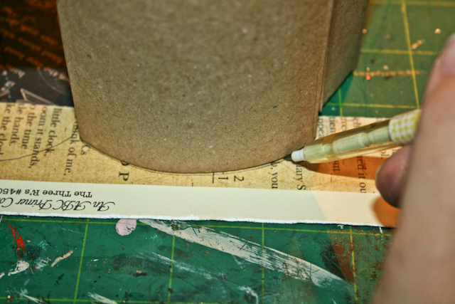 Tracing paper on pencilcase