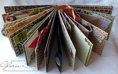 2 Graphic 45 Christmas Emporium Album Journal Gloria Stengel