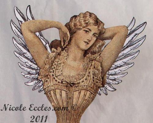 Graphic 45   Steampunk Debutante Christmas Angel Nicole Eccles