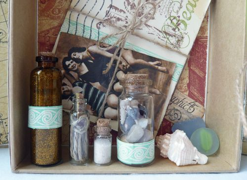 Tropical Travelogue Altered Art Box