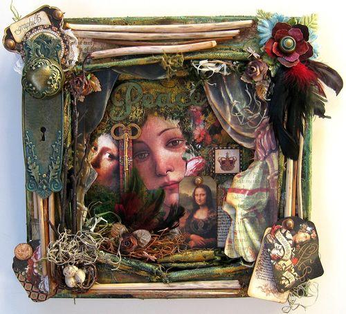 Renaissance Faire altered canvas