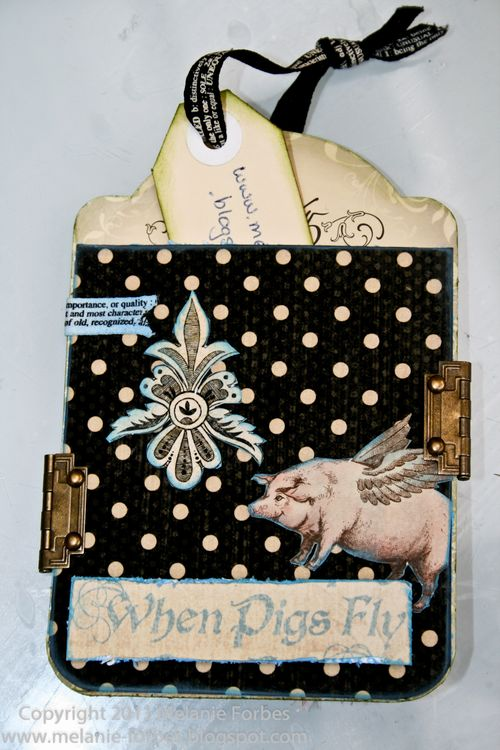 Graphic 45 Olde Curiosity Shoppe Altered tag Melanie Forbes 3