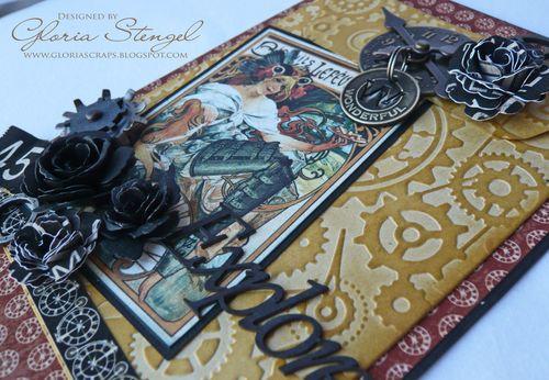 Steampunk Debutante Card