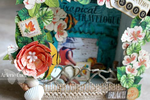 Tropical Travelogue Shadow Box1