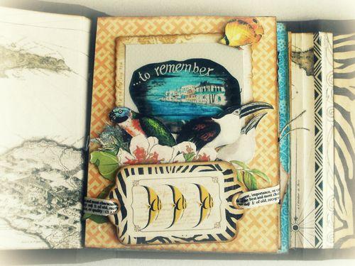 Alberto Juarez Graphic45 Tropical Travelogue mini album 7