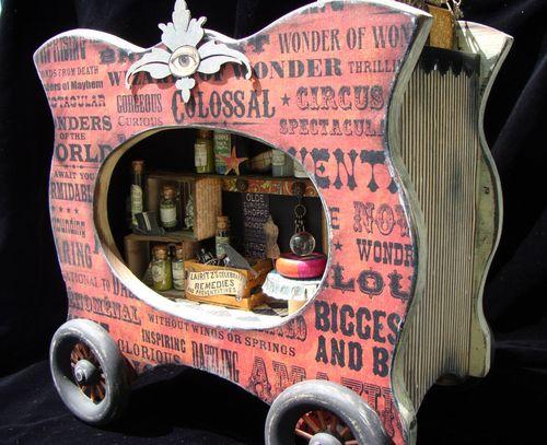 6  Nicole Eccles Olde Curiosity Shoppe Altered Apothecary cart