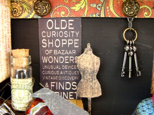 10  Nicole Eccles Olde Curiosity Shoppe Altered Apothecary cart