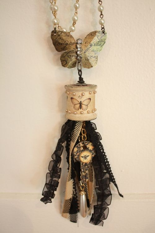 Denise Hahn Graphic 45 Olde Curiosity Shoppe Necklace - 6