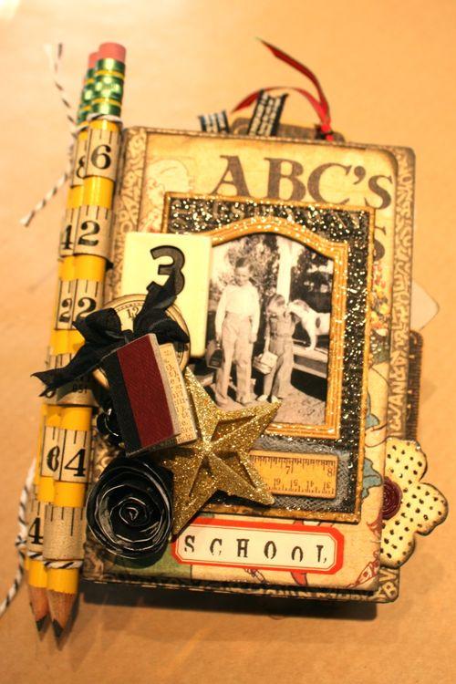 Denise Hahn Graphic 45 ABC Primer Mini Album - 03