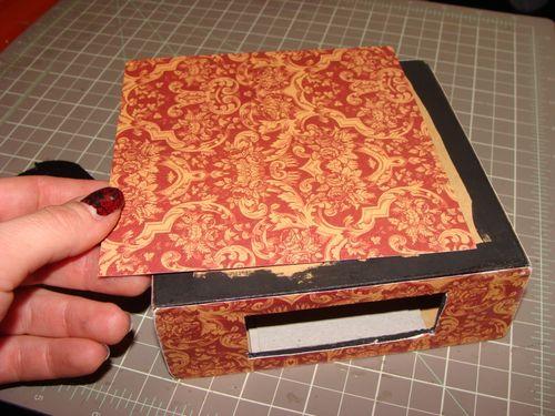 Curtain Call Altered Art Box Tutorial