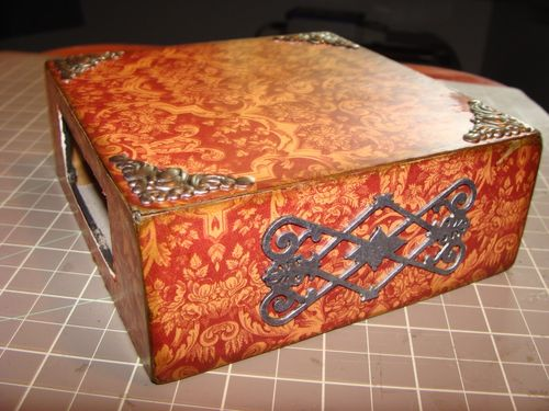 Curtain Call Altered Art Box Tutorial