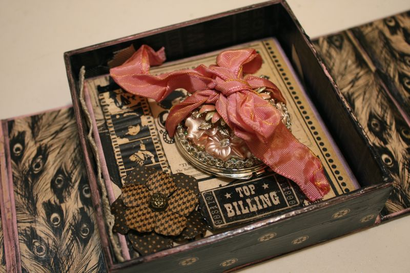 Denise Hahn Graphic 45 Curtain Call Altered Audrey Gift Box  - 03
