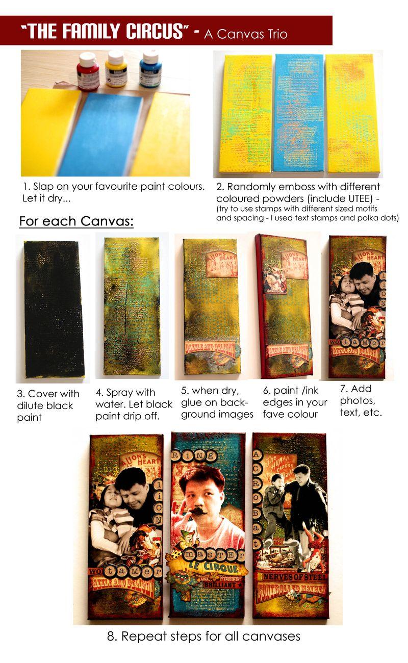Sharon Ngoo G45 Le Cirque Altered Canvas Trio Tutorial