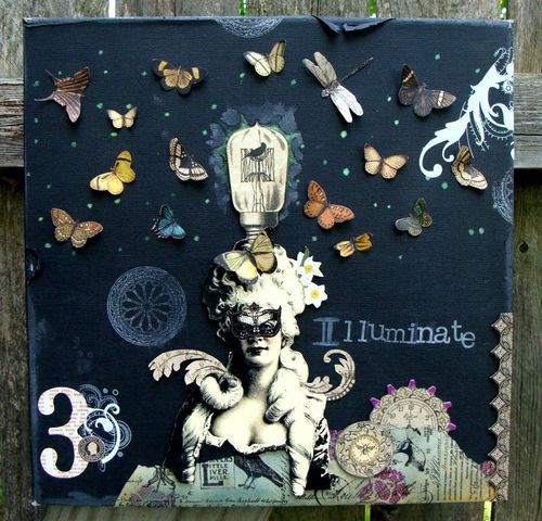 11 Nicole Eccles. Graphic 45 Olde Curiosity Shoppe Steampunk Debutante. Illuminate Mixed Media Collage