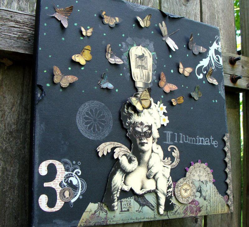12 Nicole Eccles. Graphic 45 Olde Curiosity Shoppe Steampunk Debutante. Illuminate Mixed Media Collage