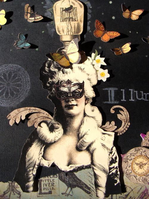 8 Nicole Eccles. Graphic 45 Olde Curiosity Shoppe Steampunk Debutante. Illuminate Mixed Media Collage