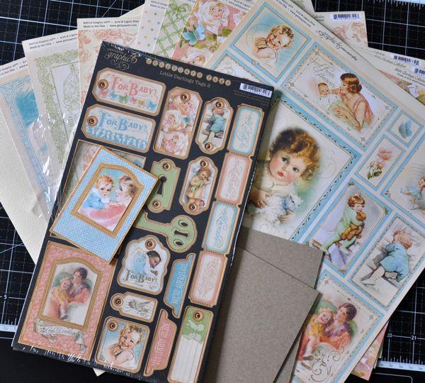 Susan Lui Graphic 45 Little Darlings Mini Album Step 1