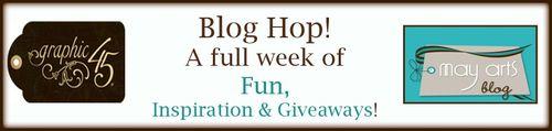 Graphic45 MayArts Blog Hop Banner