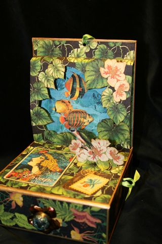 Laura Denison Graphic 45 Tropical Travelogue Altered Art Box 2