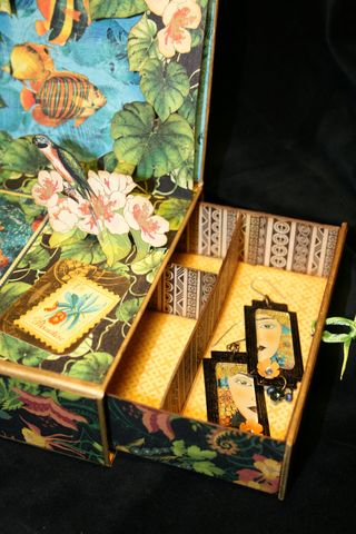 Laura Denison Graphic 45 Tropical Travelogue Altered Art Box 3