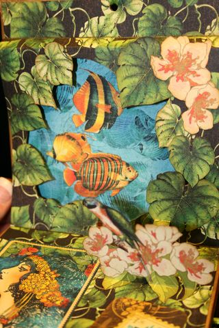 Laura Denison Graphic 45 Tropical Travelogue Altered Art Box 5