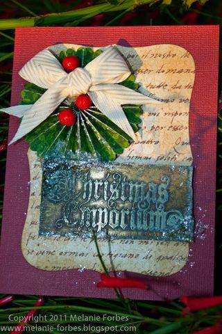Melanie Forbes Christmas Emporium Metal cards 2