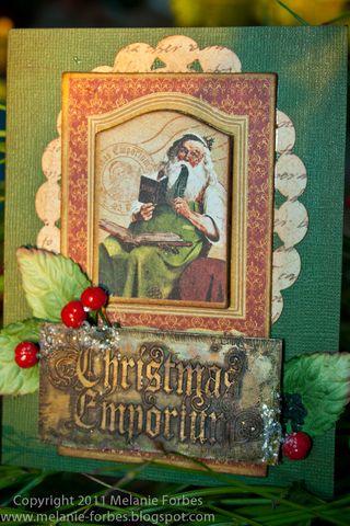 Melanie Forbes Christmas Emporium Metal cards 5