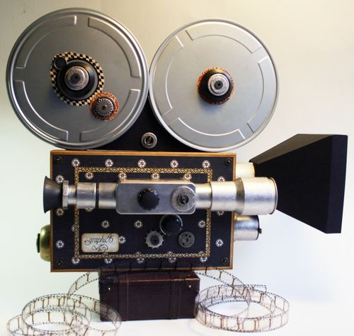 Curtain Call Olde Curiosity Shoppe Vintage Movie Camera