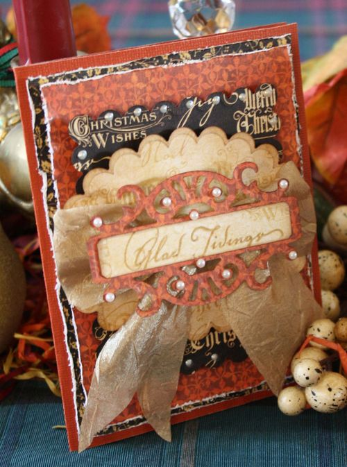 Graphic 45 Glad Tiding Card Christmas Emporium Nancy Wethington