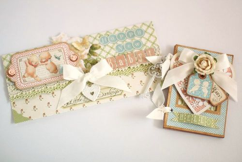 Graphic 45-Little Darlings-Envelope and card-YukaHino