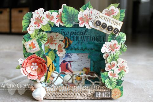 Tropical Travelogue Shadow Box
