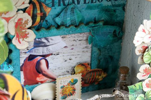 Tropical Travelogue Shadow Box6