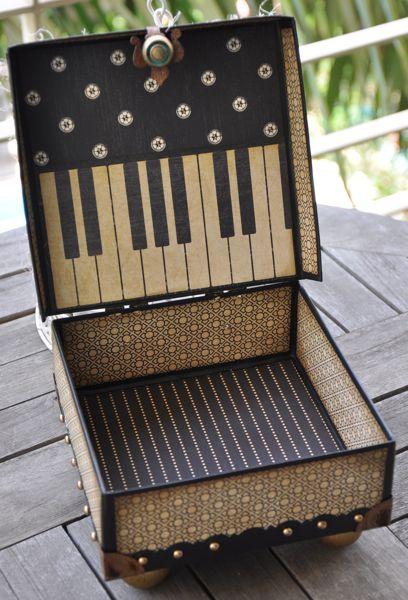 Susan Lui Graphic 45 Renaissance Faire Curtain Call Altered Box 6