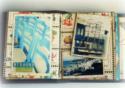 Alberto Juarez Graphic45 Tropical Travelogue mini album 8