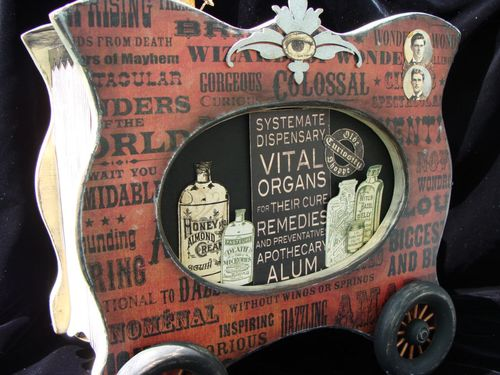 1 Nicole Eccles Olde Curiosity Shoppe Altered Apothecary cart