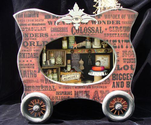 5  Nicole Eccles Olde Curiosity Shoppe Altered Apothecary cart