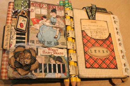 Denise Hahn Graphic 45 ABC Primer Mini Album - 06