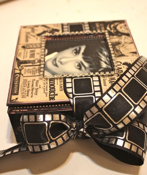 Denise Hahn Graphic 45 Curtain Call Altered Audrey Gift Box  - 02