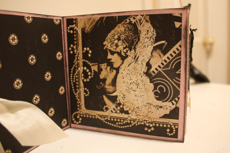 Denise Hahn Graphic 45 Curtain Call Altered Audrey Gift Box  - 07