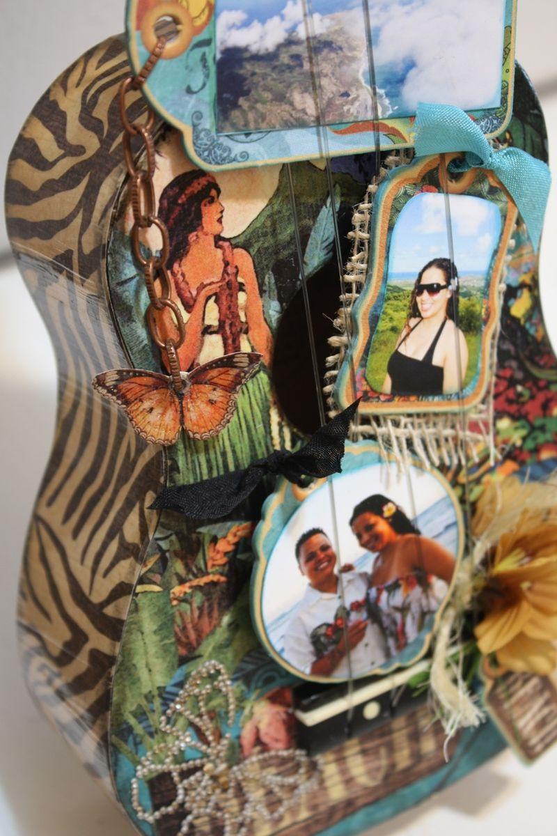 Denise Hahn Tropical Travelogue Altered Ukulele8