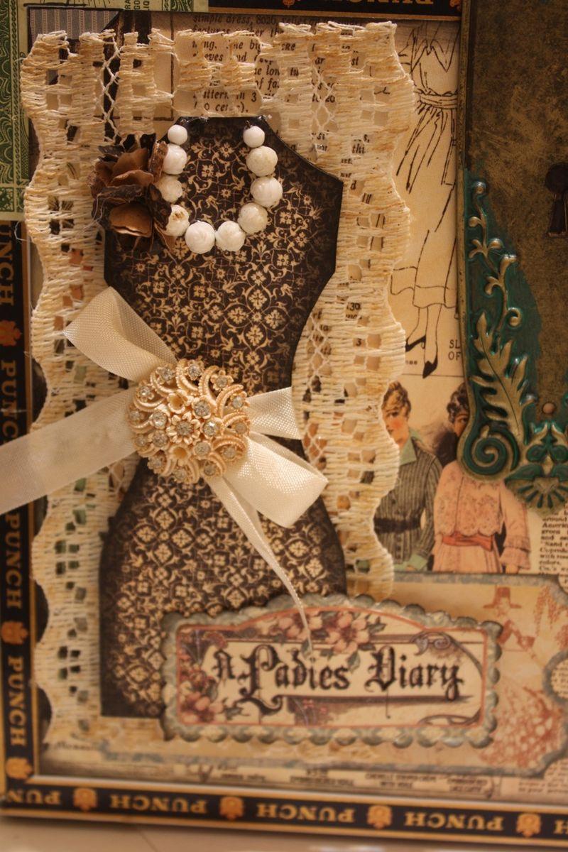 Denise Hahn Graphic 45 Ladies Diary Cigar Box Keepsake Box - 02