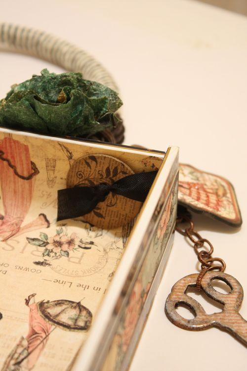 Denise Hahn Graphic 45 Ladies Diary Cigar Box Keepsake Box - 10