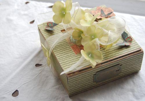 Steampunk Debutante altered art box