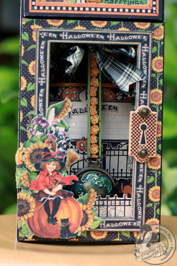 Graphic45 Sharon Ngoo Grandfather Clock Happy Haunting (pendulum)