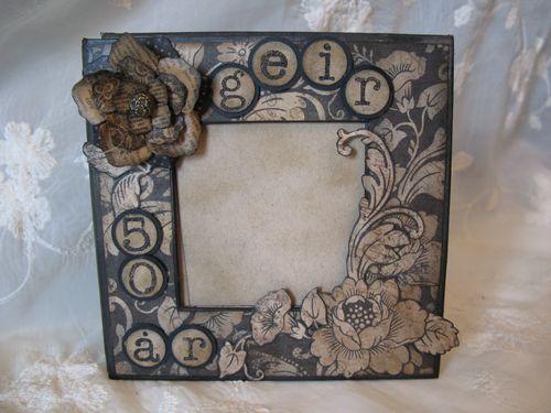 Kraft Reflections Mini Album Altered Art