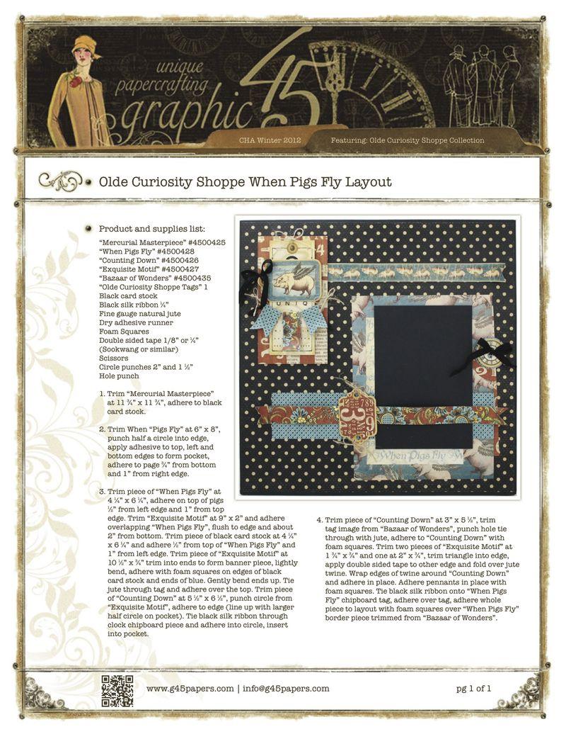 OldeCuriosityShoppeWhenPigsFlyLayoutPSGraphic45