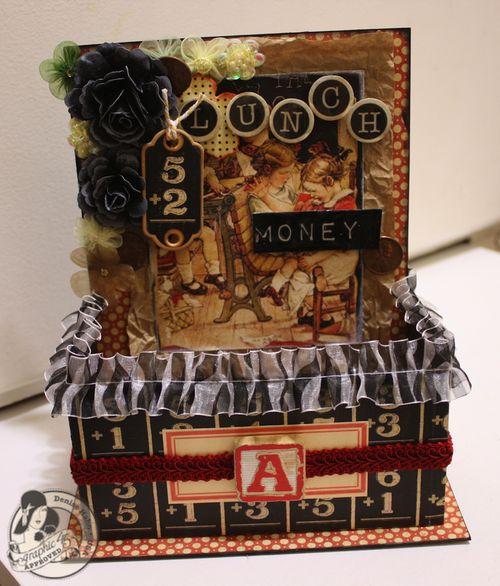 Denise Hahn Graphic 45 ABC Primer Back to School Lunch Money Box - 1-imp